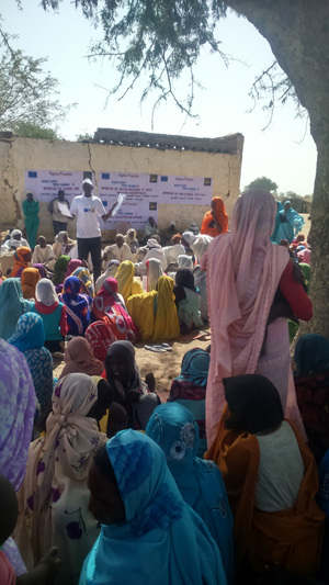 Hygiene promotion session in Moradaf, Central Darfur